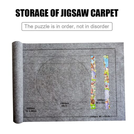 26x46 inch Puzzle Matte F r Puzzle Roll Up Jigsaw Felt Playmat for Up to 1500pcs 3