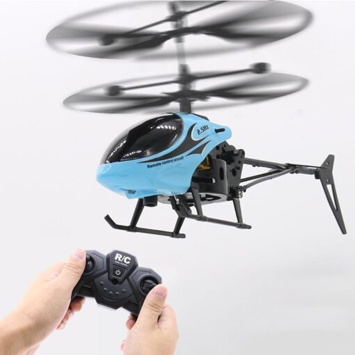 2CH Two way RC Drone Mini RC Helicopter With LED Light Suspension Induction Electronic Model Remote 1