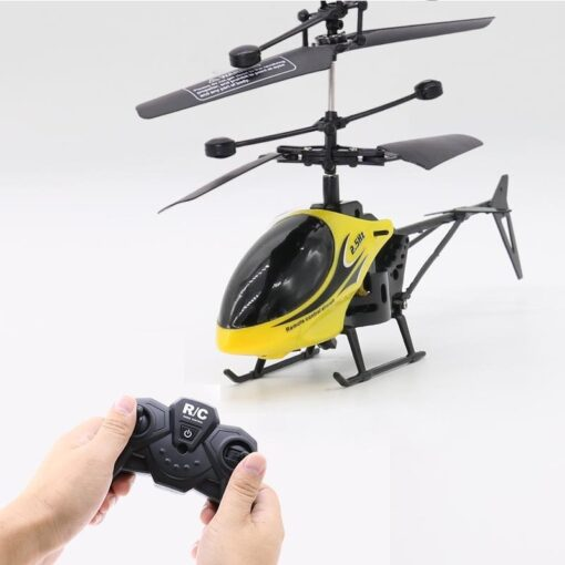 2CH Two way RC Drone Mini RC Helicopter With LED Light Suspension Induction Electronic Model Remote 2