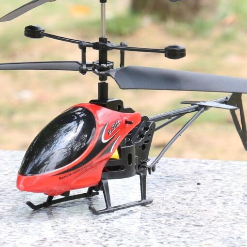 2CH Two way RC Drone Mini RC Helicopter With LED Light Suspension Induction Electronic Model Remote 3