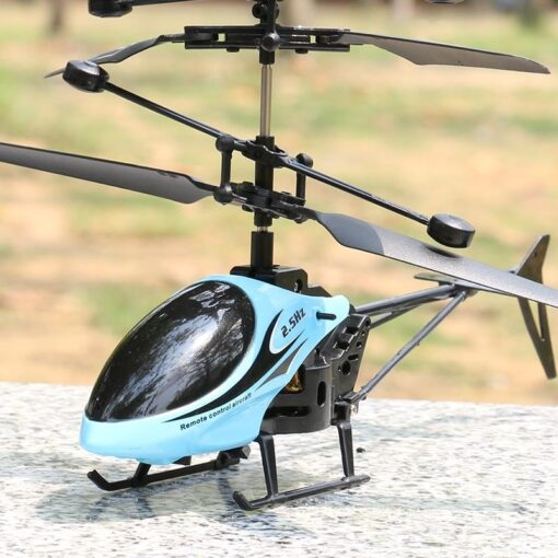 2CH Two way RC Drone Mini RC Helicopter With LED Light Suspension Induction Electronic Model Remote 4