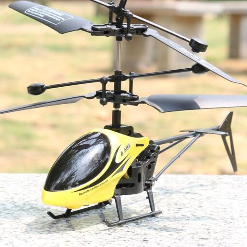 2CH Two way RC Drone Mini RC Helicopter With LED Light Suspension Induction Electronic Model Remote 5