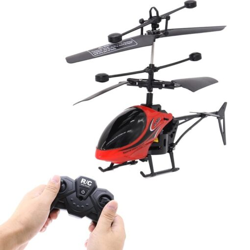 2CH Two way RC Drone Mini RC Helicopter With LED Light Suspension Induction Electronic Model Remote