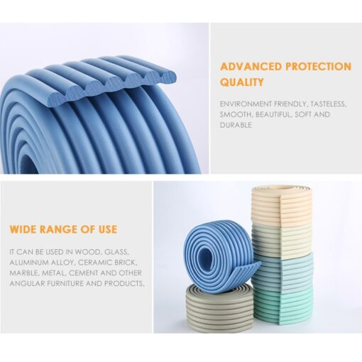 2M Baby Safety Protection Strip Table Desk Edge Guard Strip Corner Protector Furniture Corners Children Safety 4