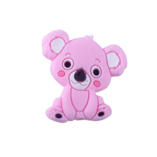 2PCS Baby Animal Silicone Teethers Koala Baby Teething Product Accessories For Pacifier Chains BPA Free 4