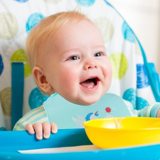 2PCS Silicone Baby Bibs Easy Wipe Clean Comfortable Soft Waterproof Feeding Bibs Keeps Stains Off Cartoon 4