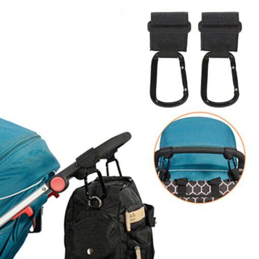 2Pcs Lot Baby Stroller Hook Strong Hanger For Baby Pushchair Prams Poussette Hook Stroller Organizer Hanger 6