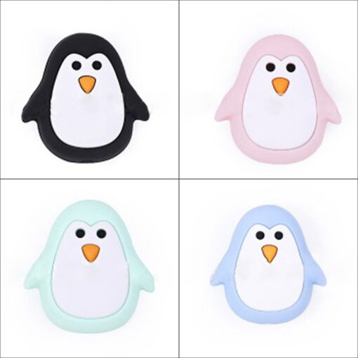 2pcs Baby Animal Food grade Silicone Teethers baby molars Baby Teething Product Accessories For Pacifier Chains 1