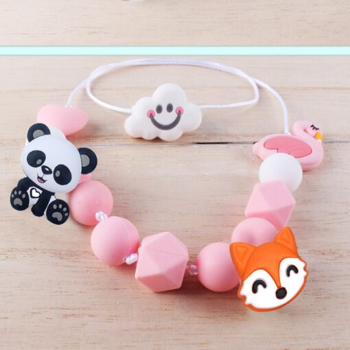 2pcs Baby Animal Food grade Silicone Teethers baby molars Baby Teething Product Accessories For Pacifier Chains 2