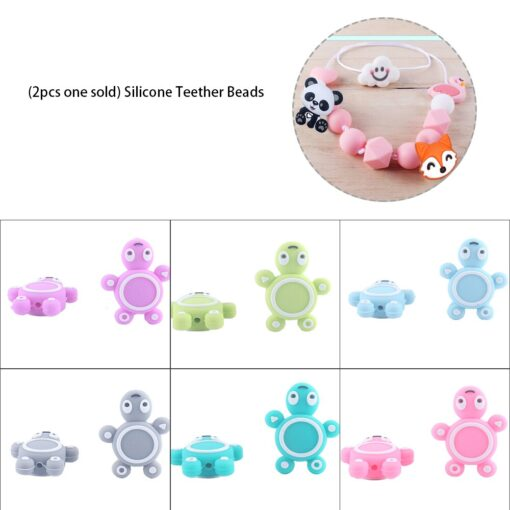 2pcs Baby Animal Food grade Silicone Teethers baby molars Baby Teething Product Accessories For Pacifier Chains