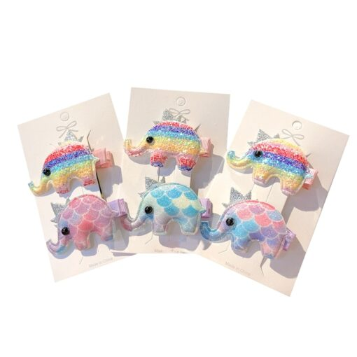 2pcs Baby Clip Cute Animal Hairpin Children Color Hairclip Kids Headwear Colorful Rainbow Hair Accessories Dropshipping 1