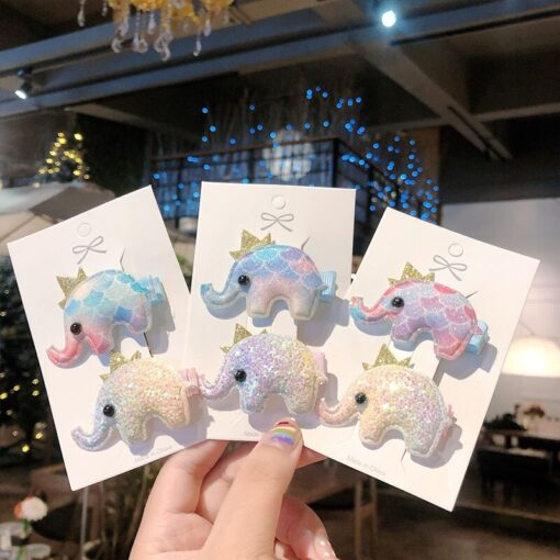 2pcs Baby Clip Cute Animal Hairpin Children Color Hairclip Kids Headwear Colorful Rainbow Hair Accessories Dropshipping 2