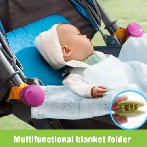 2pcs Baby Stroller Anti Tipi Clip Anti slip Blanket Clip Fasteners Grippers Suspenders Sheet Holder Stroller