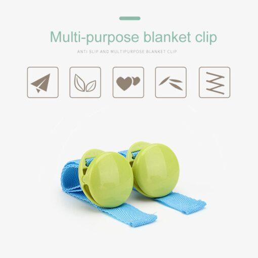 2pcs Cart Clip Baby Anti kick Multi purpose Clip Kids Blanket Solid Color Strong Clip Infant 4