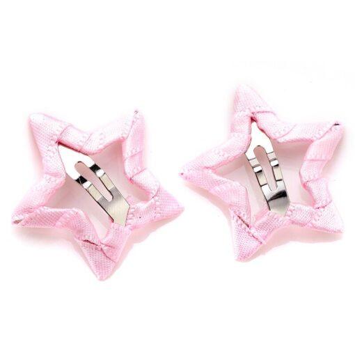 2pcs Hair Cute Pentagram Star Clip Baby Girl Hairpin Children Solid Color Kids Headwear Hair Accessories 1