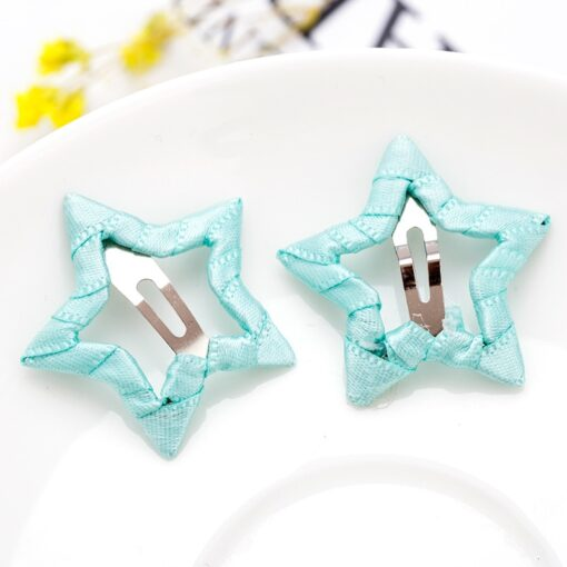 2pcs Hair Cute Pentagram Star Clip Baby Girl Hairpin Children Solid Color Kids Headwear Hair Accessories 2