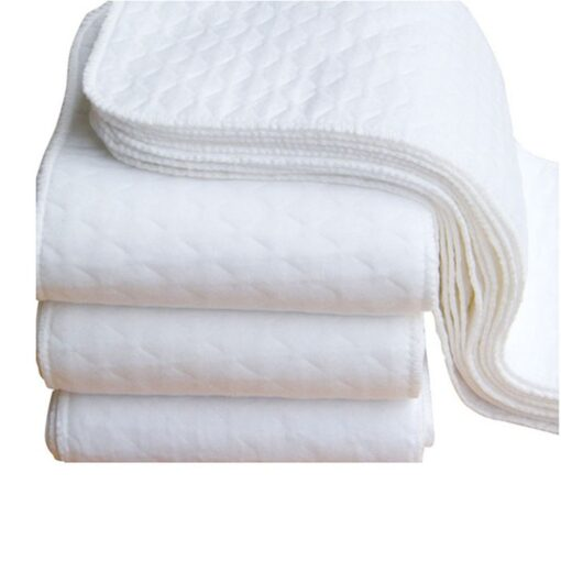 2pcs Reusable Baby Diapers Cloth Diaper Inserts White Ecological Cotton Washable Babies Care Eco friendly Diaper