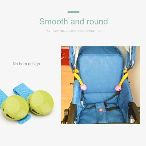 2pcs Set Delicate Baby Stroller Accessory One Lot Glossy Multicolour Anti Tipi Clip Blanket Clip Useful 5