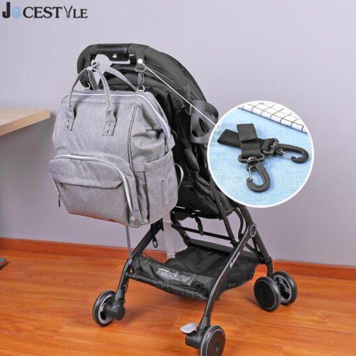 2pcs Set Stroller Hooks Mummy Bag Stroller Pram Hanger Hook Shopping Bag Clip Accessories For Diaper 1