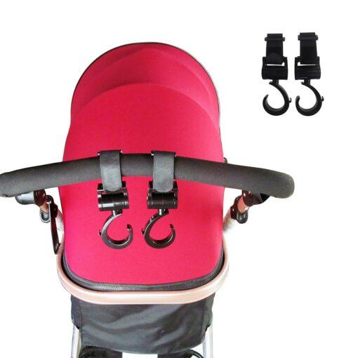 2pcs baby bag hanger baby stroller hooks rotate 360 degree baby car seat accessories stroller organizer