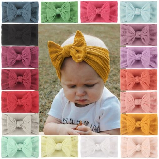 3 5 6 10pcs Children seamless super soft Jacquard nylon headband baby headband cute princess hair