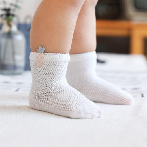 3 Pairs lot Baby Socks Mesh Socks Thin Cotton Models Boys Girls Socks Boneless Suture Newborn 4