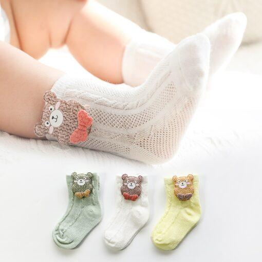 3 Pairs lot Baby Socks Mesh Socks Thin Cotton Models Boys Girls Socks Boneless Suture Newborn 5