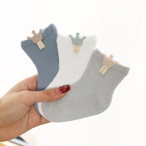 3 Pairs lot Baby Socks Mesh Socks Thin Cotton Models Boys Girls Socks Boneless Suture Newborn