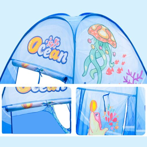 3 in 1 Ocean Children s Tent House Toy Ball Pool Portable Children Tipi Tents with 3