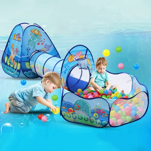 3 in 1 Ocean Children s Tent House Toy Ball Pool Portable Children Tipi Tents with