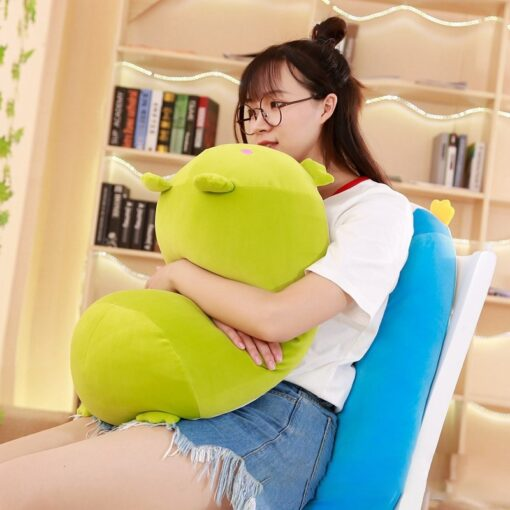30 60 90cm Soft Animal Cartoon Pillow Cushion Cute Fat Dog Cat Totoro Penguin Pig Frog 1