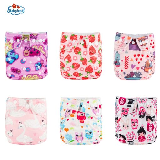 30 Discount Promotion New Babyland Reusable Diapers 6pcs Set ECO Friendly Cloth Nappy Cover Washable Pocket 2