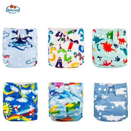 30 Discount Promotion New Babyland Reusable Diapers 6pcs Set ECO Friendly Cloth Nappy Cover Washable Pocket