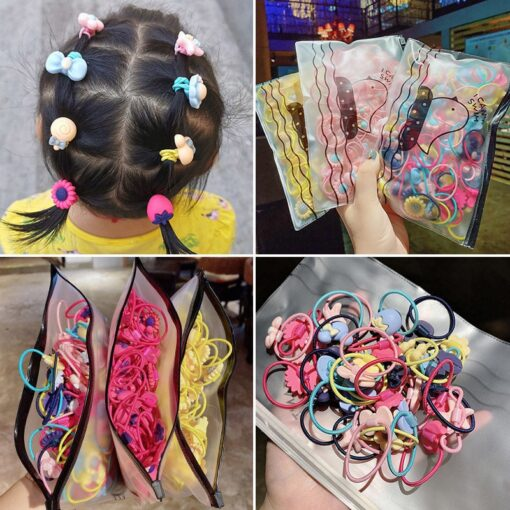 300 200pcs Women Basic Gum For Hair Ponytail Holder Elastic Hair Bands Scrunchie Rubber Bands Hair 3
