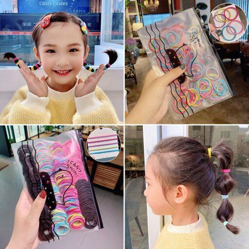 300 200pcs Women Basic Gum For Hair Ponytail Holder Elastic Hair Bands Scrunchie Rubber Bands Hair 4