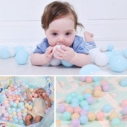 300 Pcs Eco Friendly Colorful Soft Plastic Water Pool Ocean Wave Ball Baby Funny Toys Play 3