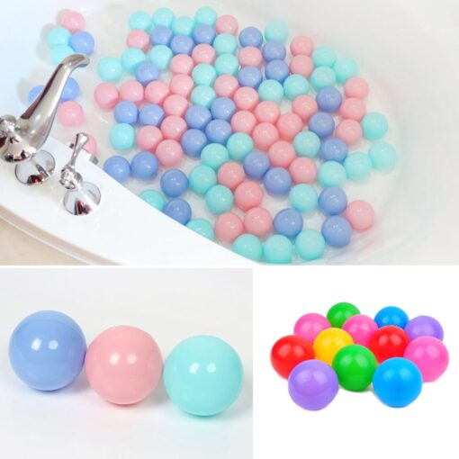 300 Pcs Eco Friendly Colorful Soft Plastic Water Pool Ocean Wave Ball Baby Funny Toys Play 4