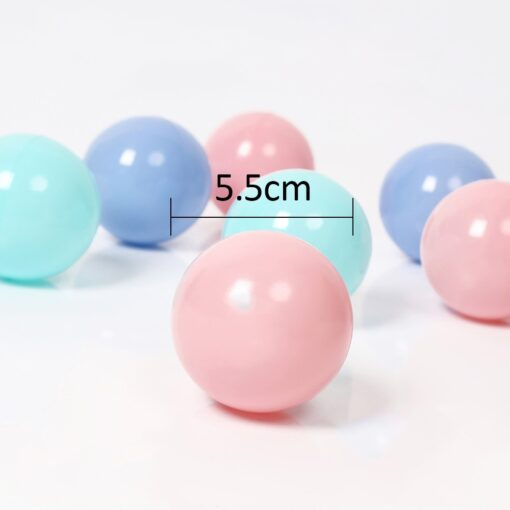 300 Pcs Eco Friendly Colorful Soft Plastic Water Pool Ocean Wave Ball Baby Funny Toys Play 5