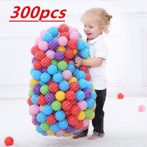 300 Pcs Eco Friendly Colorful Soft Plastic Water Pool Ocean Wave Ball Baby Funny Toys Play