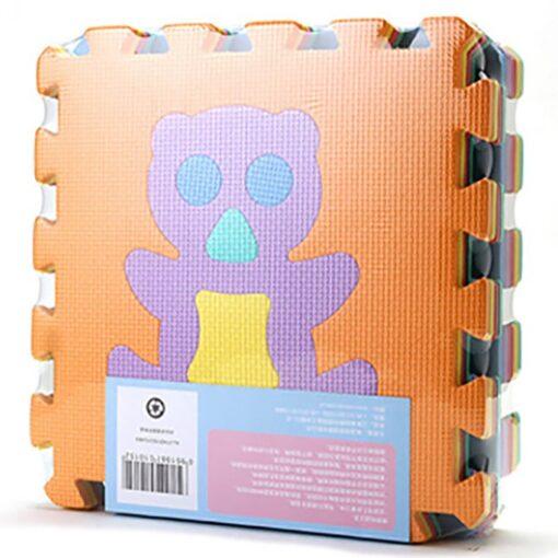 300mm 300mm 10mm 9PCS Kids Baby Play Mat Multi color Puzzle Excise Crawl Mat Eva Foam 4