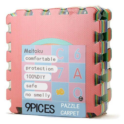 300mm 300mm 10mm 9PCS Kids Baby Play Mat Multi color Puzzle Excise Crawl Mat Eva Foam 5