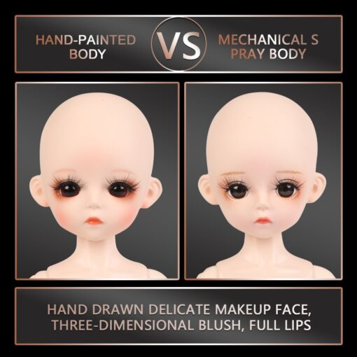 30CM Nude Body BJD Doll 1 6 BJD 25 Parts Can Be Removed Ball Jointed Body