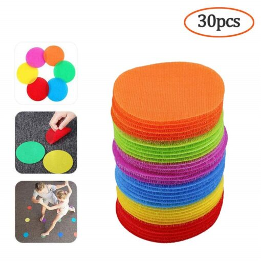 30PC Round Carpet Spot Marker For Teacher Early Educational Classroom Sit Spots Carpet Markers Toy Gift