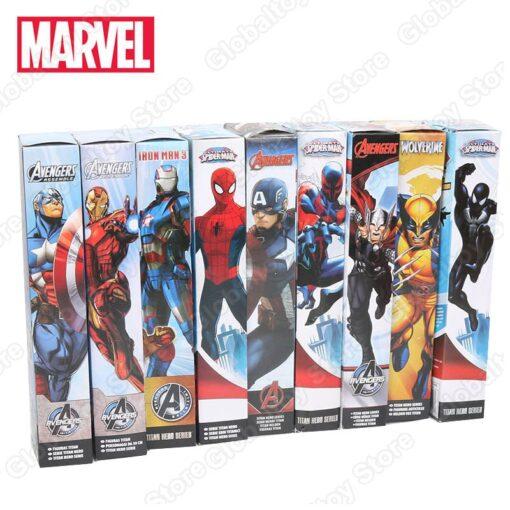 30cm Marvel Figure Avenger Endgame Thor Captain Thanos Wolverine Captain Spider Man Iron Man Spiderman Figure