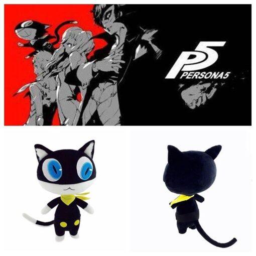 30cm Stuffed Doll Anime Persona 5 P5 Morgana Plush Doll Black Kitty Cosplay Cat Pillow Cushion 4