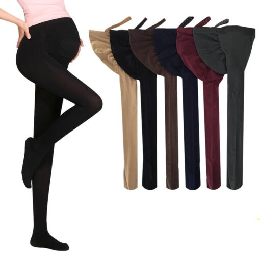 320D Women Pregnant Socks Maternity Hosiery Solid Stockings Tights Pantyhose Spring and autumn pregnant women stockings 1