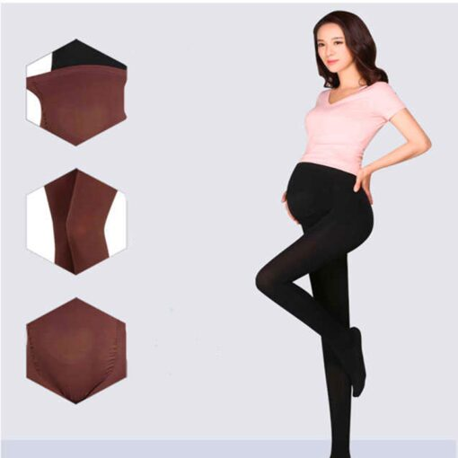 320D Women Pregnant Socks Maternity Hosiery Solid Stockings Tights Pantyhose Spring and autumn pregnant women stockings 3