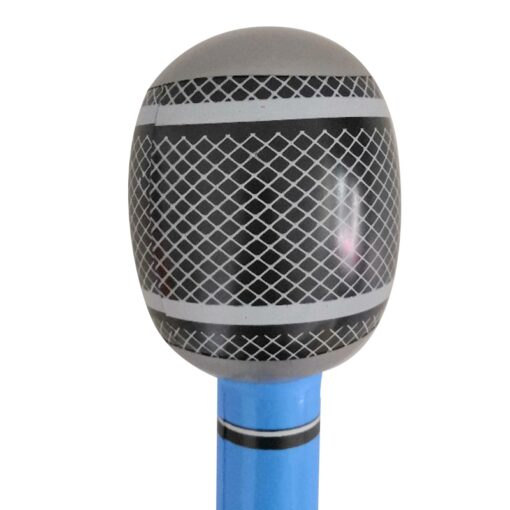 35 80cm Funny Inflatable Microphone Toy Cool Party Stage Decorations Prop Blow Up Singing Balloon Toys 3