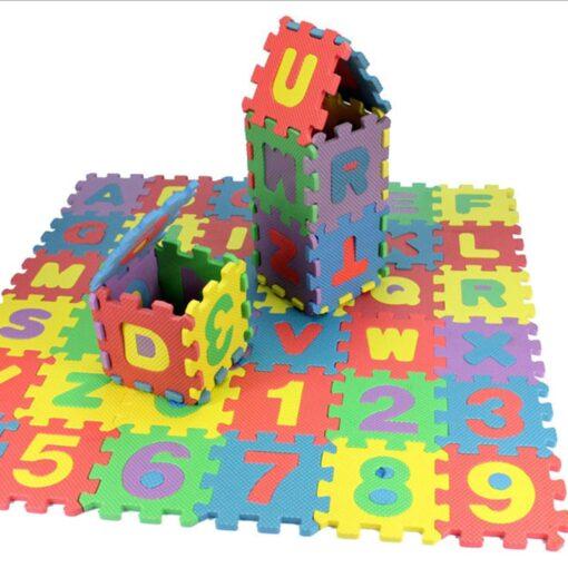 36 Pcs Set Soft EVA Foam Alphabet Letters Numbers Play Mats Toys Baby Puzzle Jigsaw Play 4
