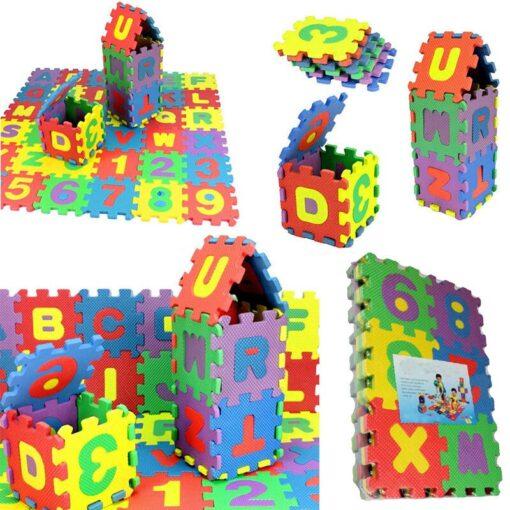 36Pcs EVA Foam Mat Baby Soft EVA Foam Play Mat Numbers Letters Playing Crawling Pad Toys 1